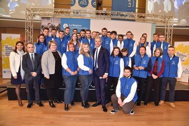 L'équipe régionale pour les 44es Olympiades des métiers