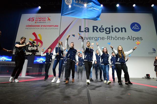 18 médailles aux 45èmes Olympiades des Métiers pour l'équipe régionale Auvergne-Rhône-Alpes