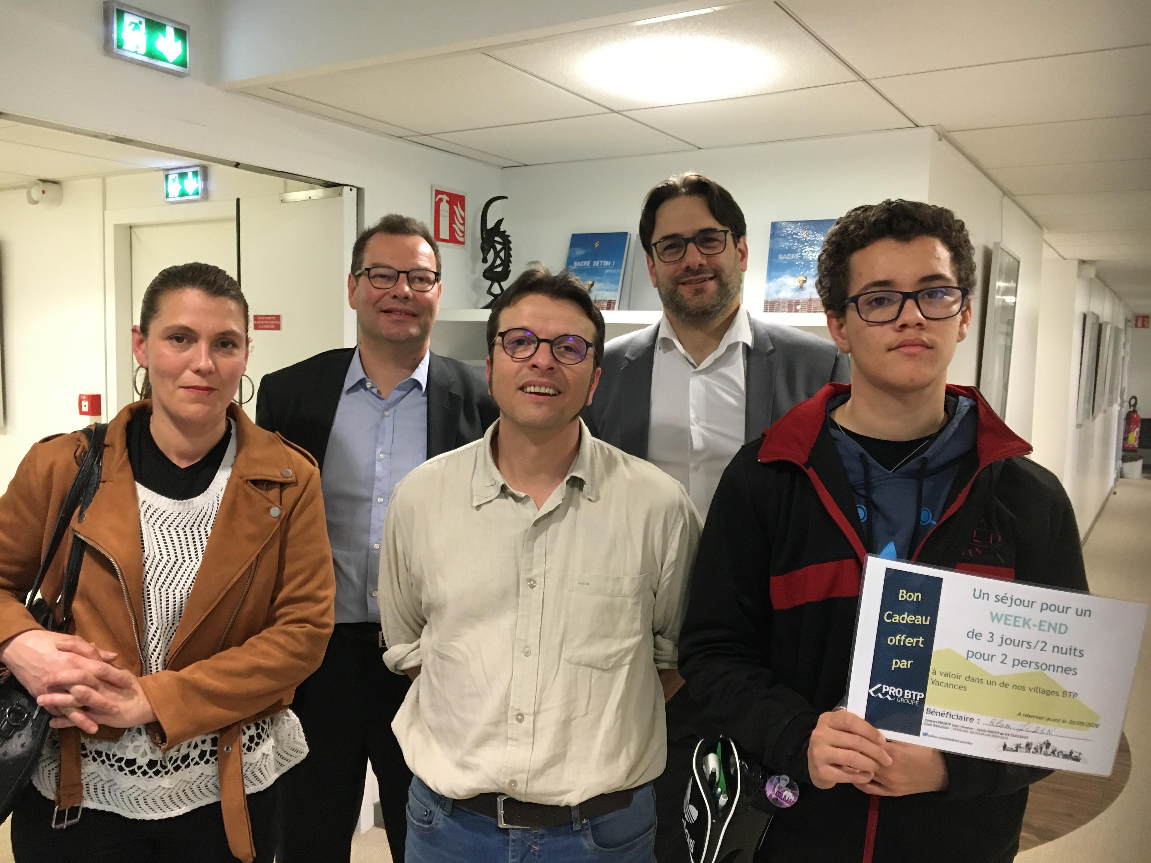 Bravo à Alan Lezin, 16 ans, qui reçoit le Prix du Mérite BTP 2020 !