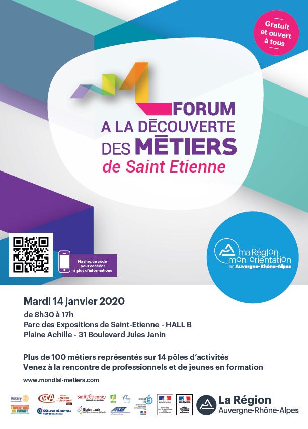 Le forum de Saint-Etienne vous invite à la découverte des métiers !