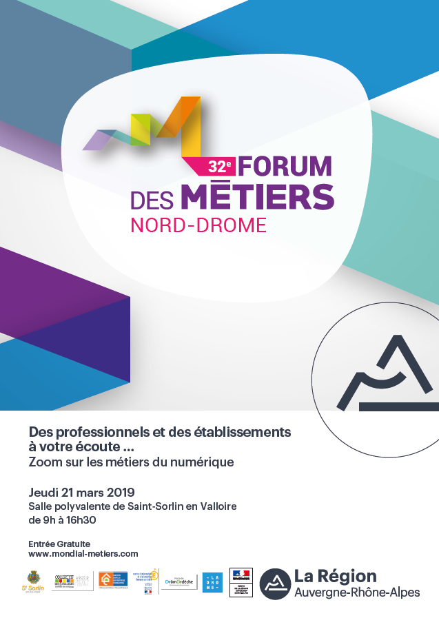 32e Forum des Métiers Nord Drôme : Zoom sur les métiers du numérique