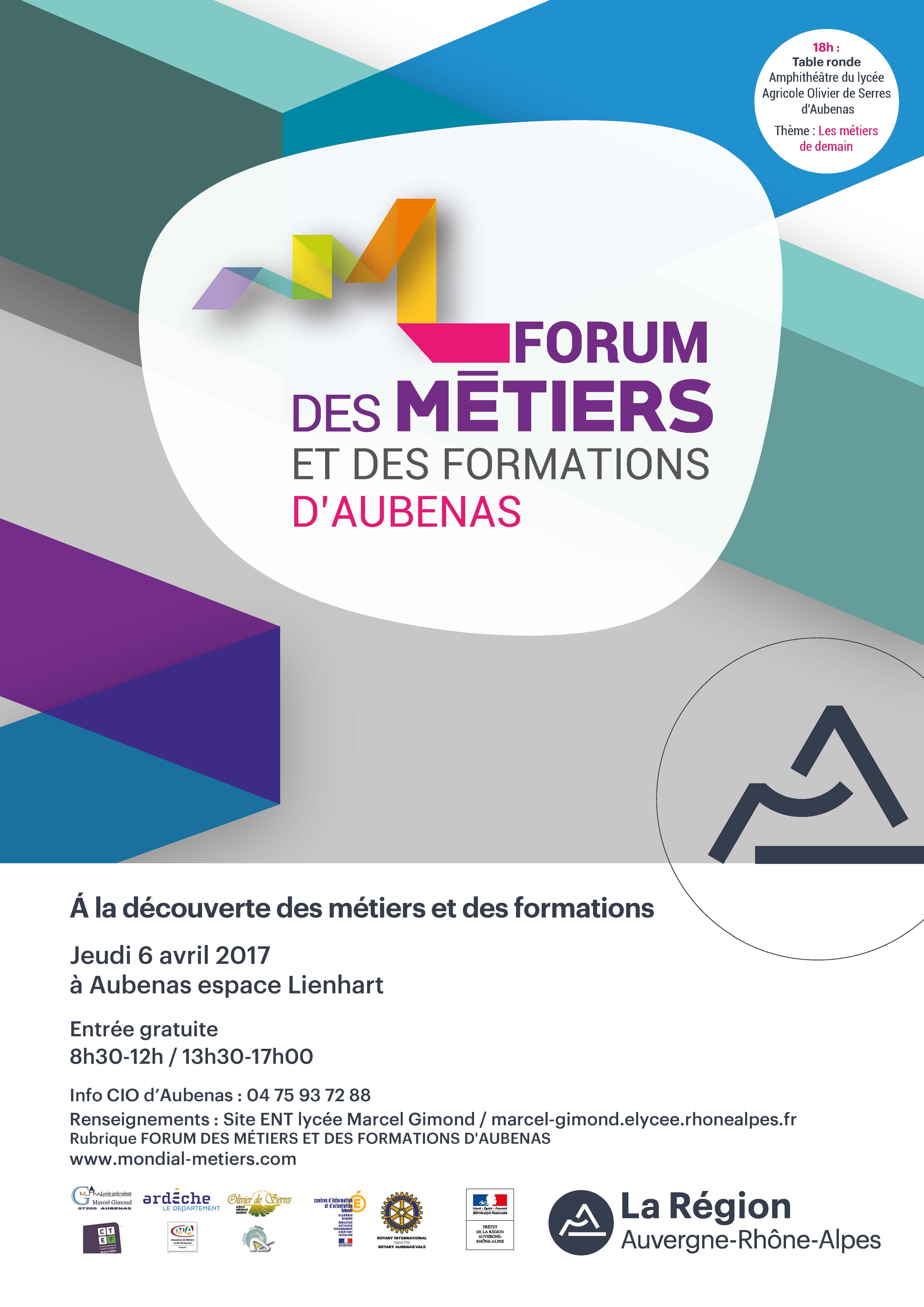 Le forum des Métiers d'Aubenas vous ouvre ses portes...