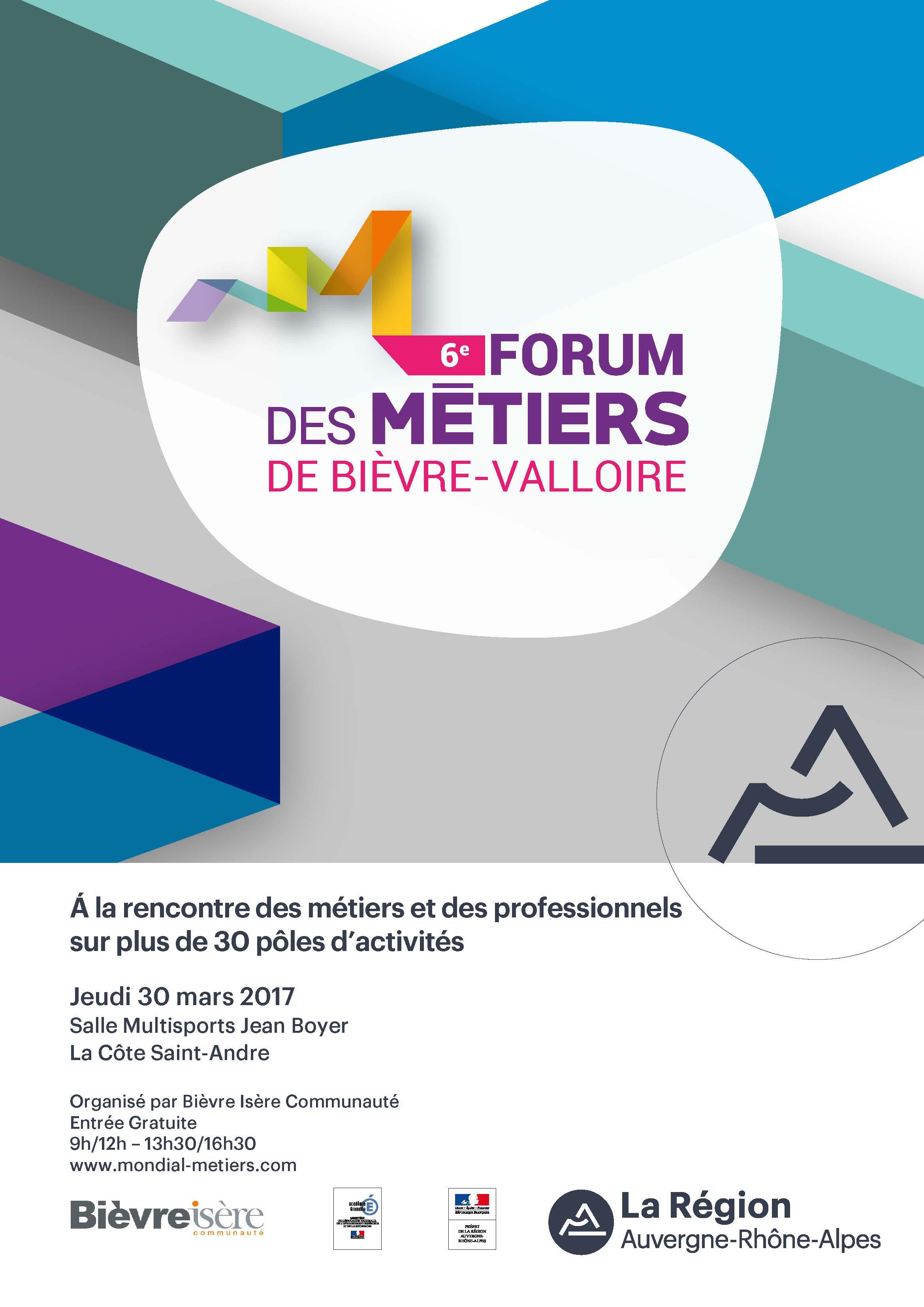 6e édition du Forum des Métiers Bièvre-Valloire