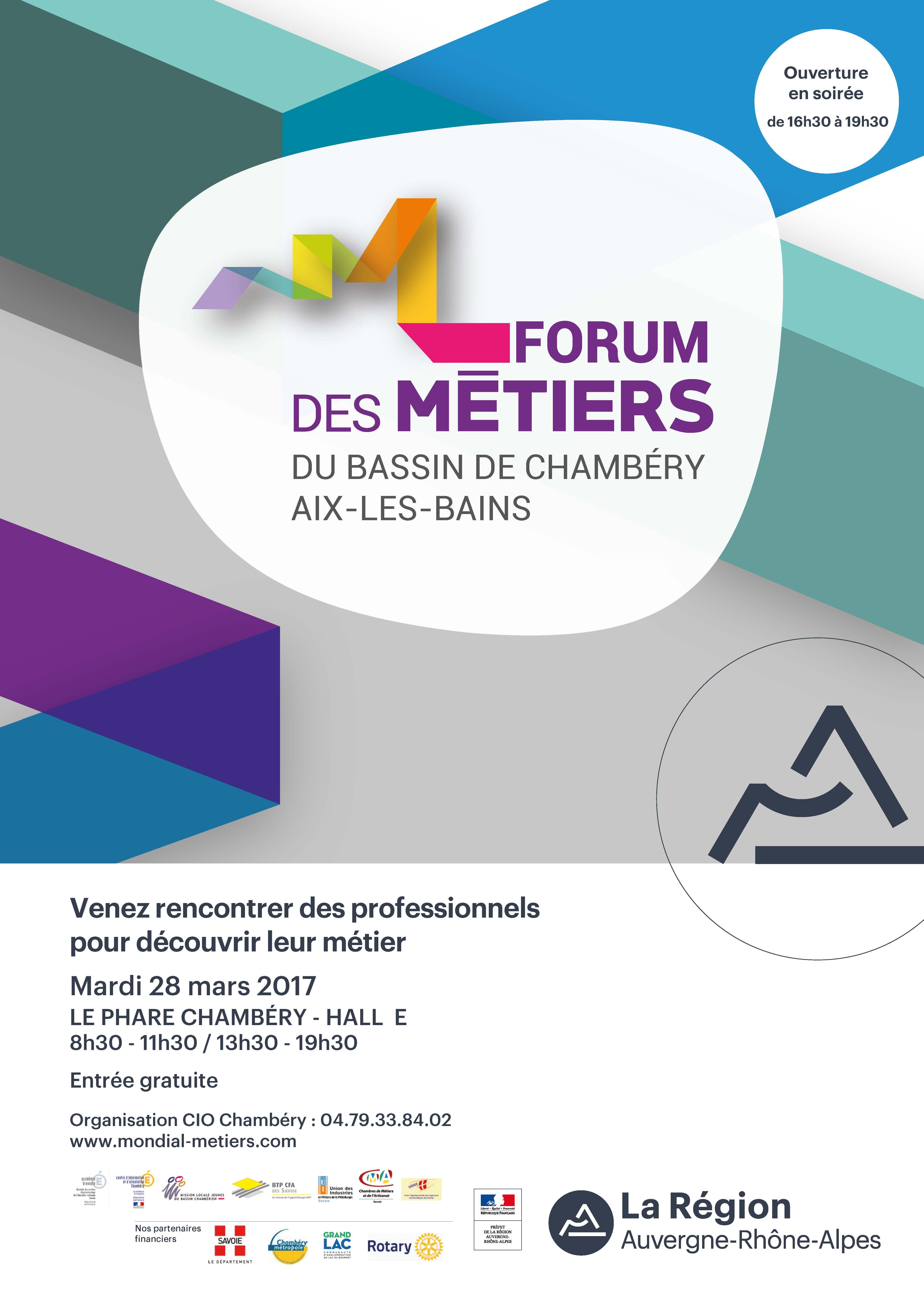 Forum des Métiers du Bassin de Chambéry - Aix les Bains