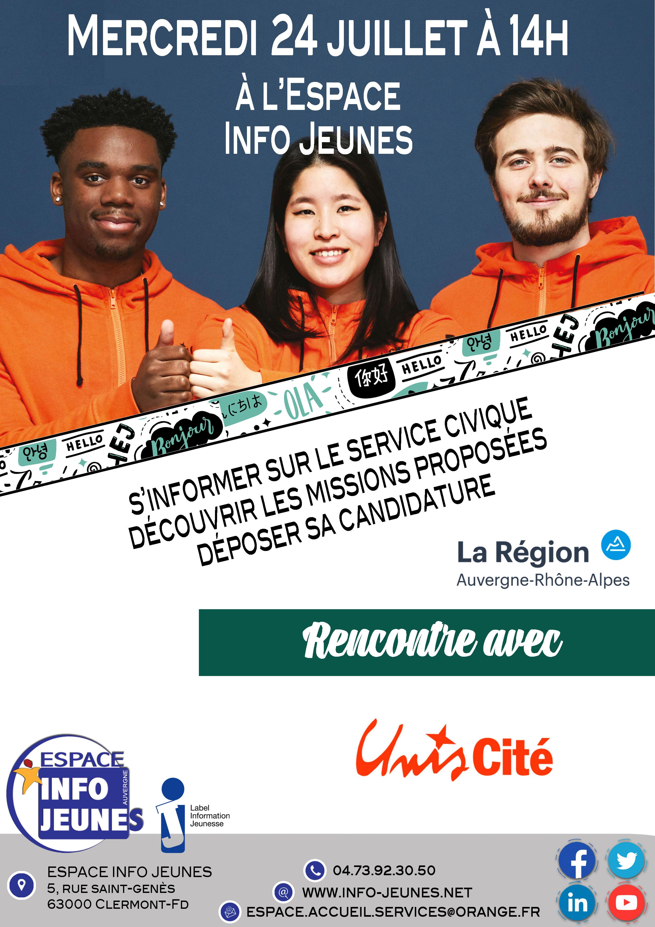 Atelier service civique avec Uniscité - Clermont-Ferrand