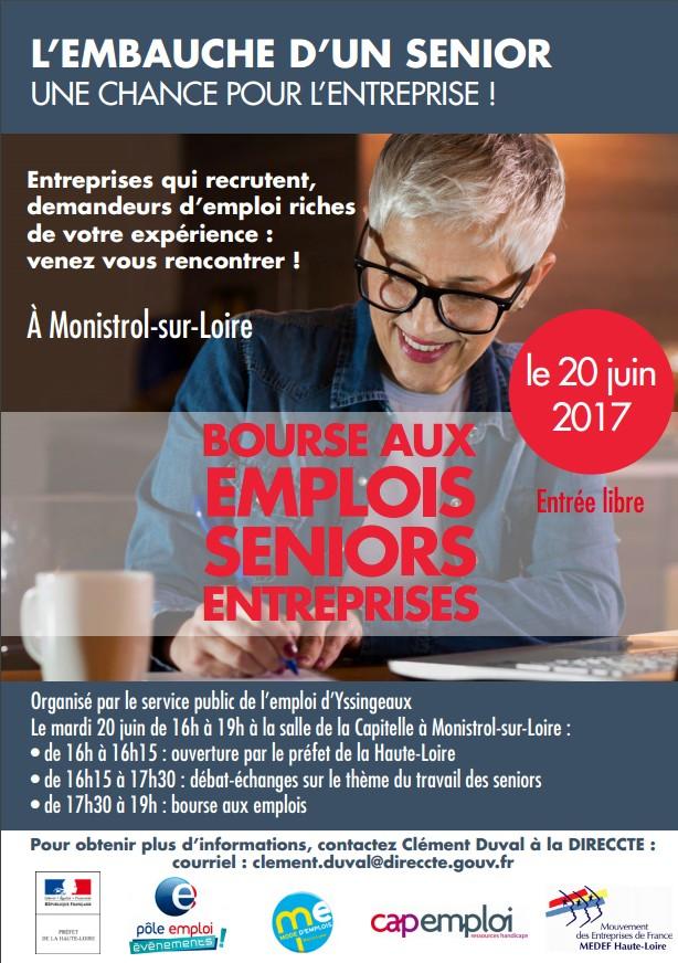 Bourse aux emplois Senior Entreprises - Monistrol-sur-Loire (43)