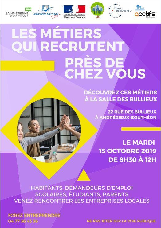 Les métiers qui recrutent près de chez vous - Andrézieux-Bouthéon (42)