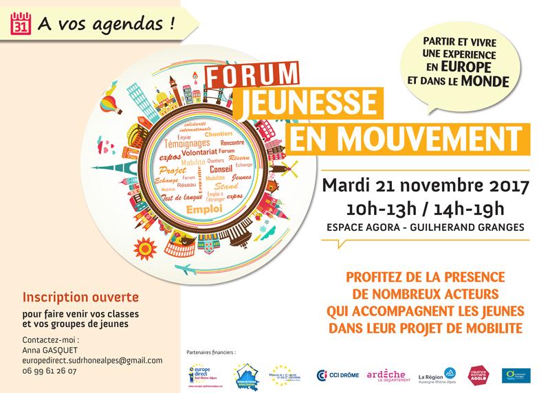 3ème édition Forum Jeunesse en Mouvement - Guilherand-Granges