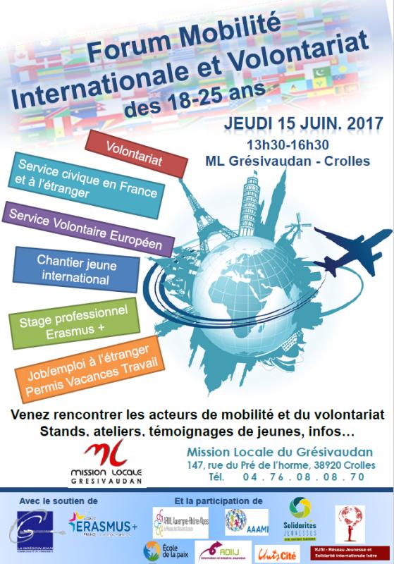 Forum Mobilité internationale et volontariat - Crolles (38)
