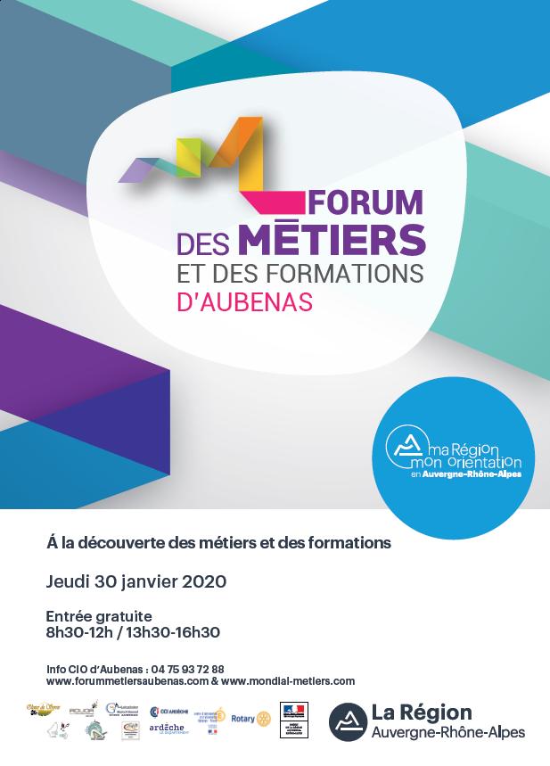Venez parler orientation au Forum des métiers et des formations d'Aubenas !