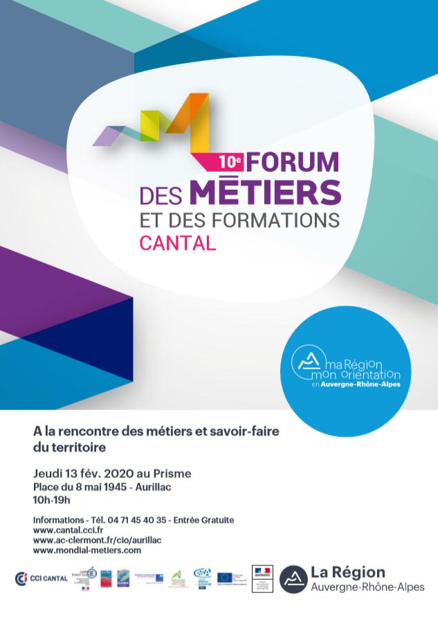 10e Forum des métiers et des formations du Cantal...