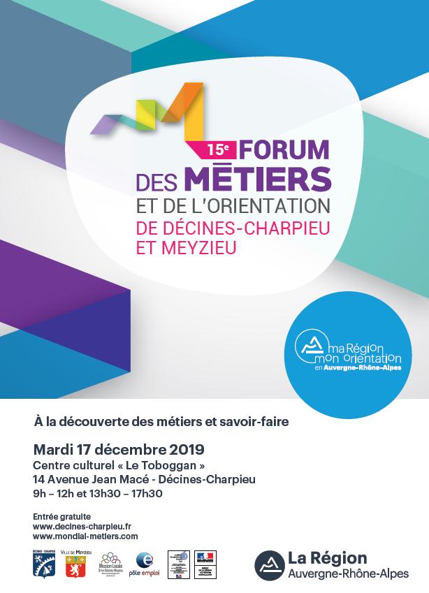 15e Forum des métiers et de l'orientation de Décines-Charpieu et Meyzieu