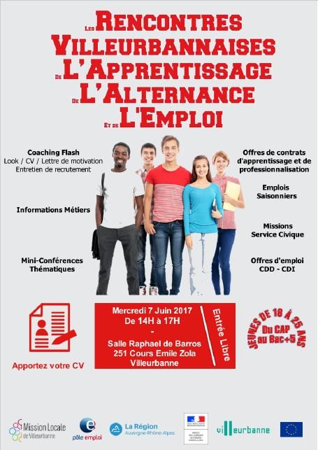 Rencontres villeurbannaises de l'apprentissage, de l'alternance et de l'emploi
