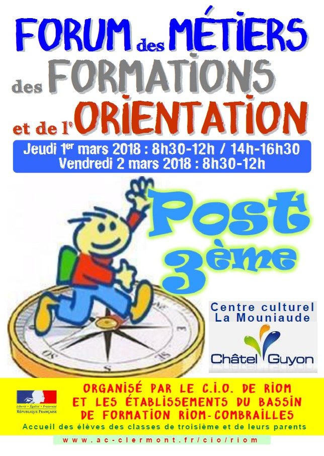 28e Forum des métiers, des formations et de l'orientation à Châtel-Guyon (63)